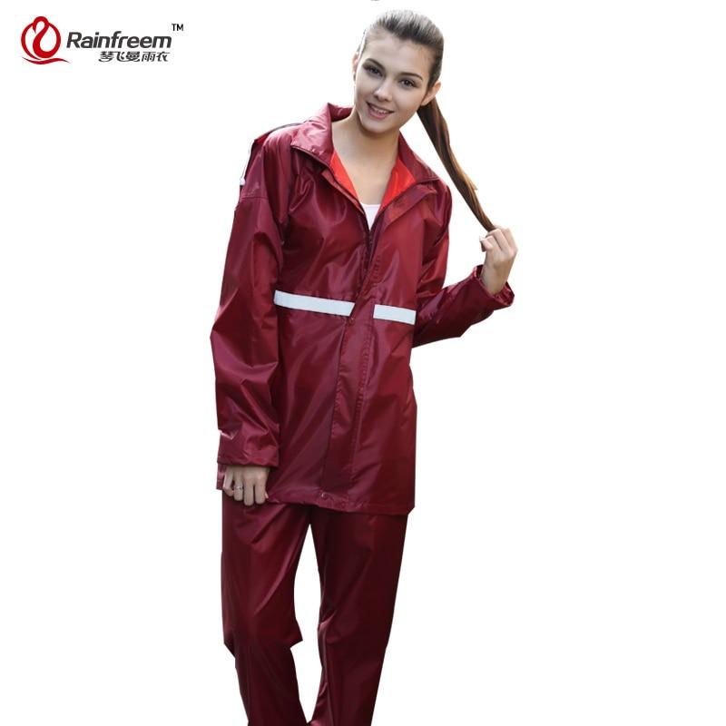 Rainfreem Kedap Jas Hujan Wanita / Pria Jas Hujan Single-layer Jas - Barang-barang rumah tangga