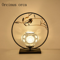 New Chinese Style Ceramics Small Birds Desk Lamps Living Room Study Bedroom Creative Classical Modern Simple