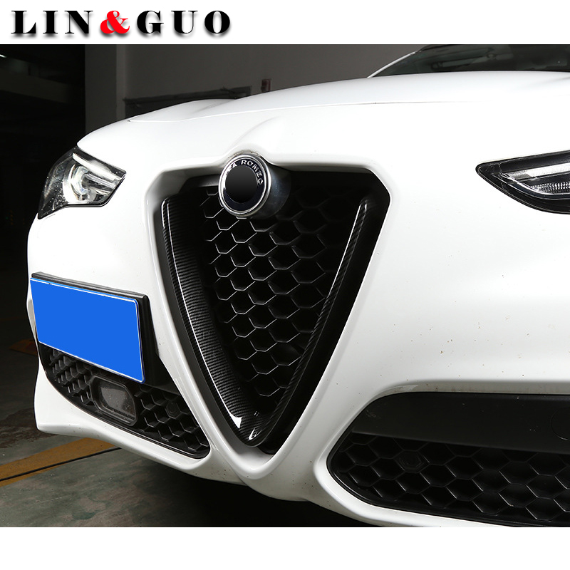 New For Alfa Romeo giulia stelvio 2017 ABS Chrome Rear Row Air Conditioning Vent Outlet Cover