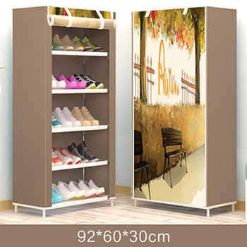 Actionclub Fashion Modern Shoe Rack DIY Assembly Shoe Organizer Rack In The Hallway Simple Shoes Stand Shelf Home Furniture - DISCOUNT ITEM  50% OFF All Category