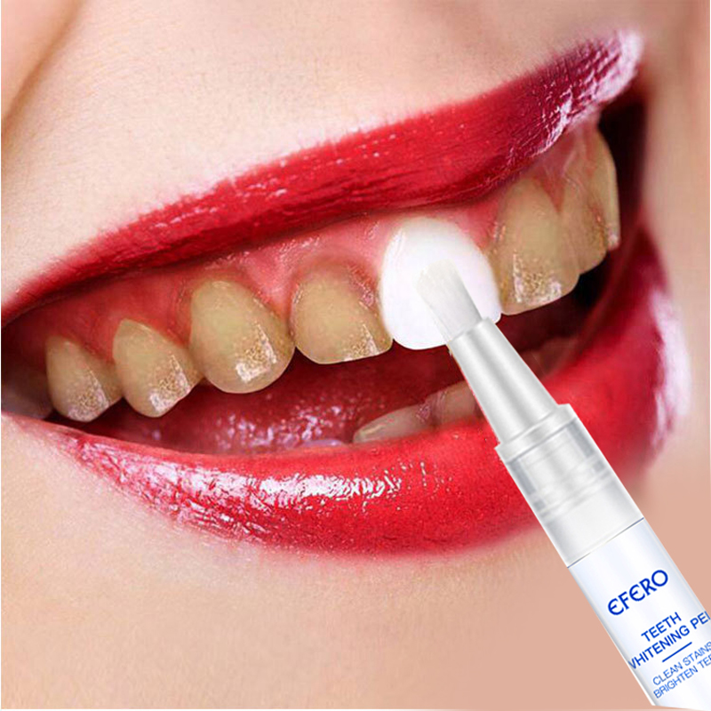 EFERO Teeth Whitening Pen Serum Remove Plaque Stains Dental Tools Oral Hygiene Tooth Bleaching Tooth Whitening Cleaning Serum
