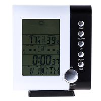 433MHz Weather Station Alarm Clock Wireless Digital Thermometer Hygrometer Indoor Electronic Temperature Humidity Meter Clock