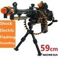 Nuevo Anuncio 59 cm simulación Eléctrica Máquina de Rifle de Francotirador Pistola de Juguete Con Sonido y Intermitente Juguetes Chicos Ametralladora de Birthiday regalos