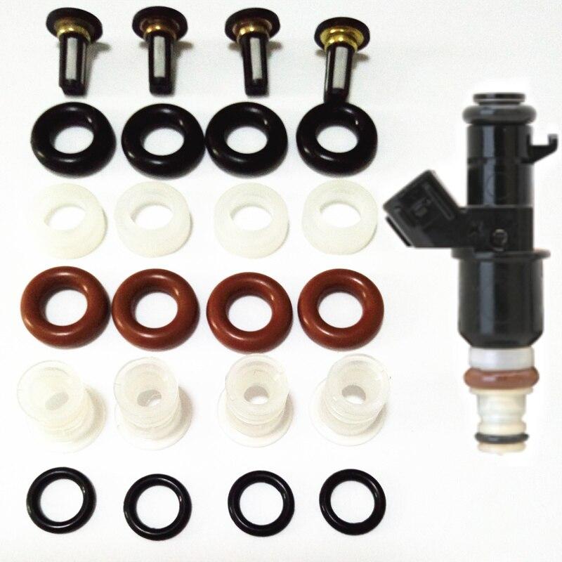 4 Unidades inyector de combustible kit de reparación para honda inyección oem #16450 RCA-A01 16450PPAA01 15810-RAA-A01 reemplazar FILTRO DE orings arandela tapas