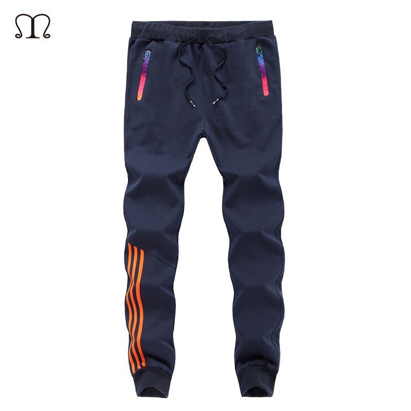 2018 Joggers Pants Men Zipper Fitness Bodybuilding Gyms Pants For Runners Clothing Autumn Sweat Skinny Trousers Britches M-5XL