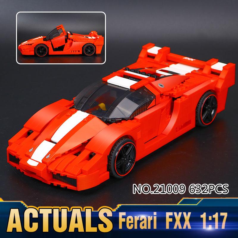 ФОТО New Lepin 21009 Genuine Creative Series The Out of Print FXX 1:17 Racing Car F1 Car Set Building Blocks Bricks Toys 8156
