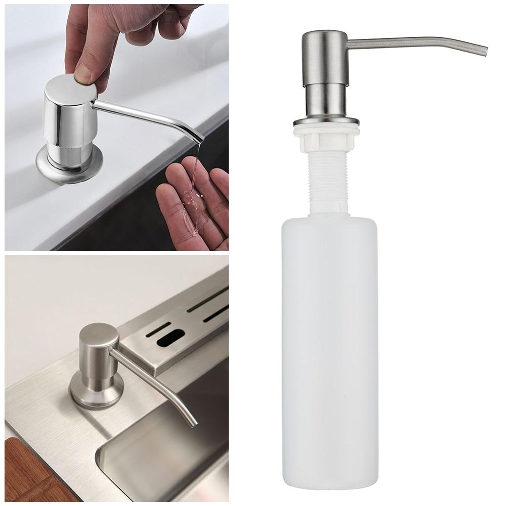 300ml ABS Plastic Bottle font b Soap b font font b Dispenser b font Deck Mount