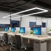 Длинные офис люстра творческая личность лампы Прямоугольные современный studio простой светодио дный офис люстра