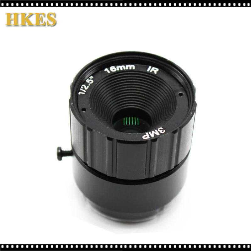 3 Megapixel Fixed 1/2.5 Mount 4mm/6mm/8mm/12mm/16mm/25mm F1.4 CS Metal Lens For CCTV Security HD 1080P/3MP IP Camera HDCVI SDI