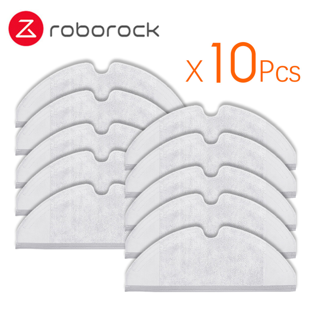 10Pcs Suitable For Xiaomi Roborock Robot S50 S51 Vacuum Cleaner Spare Parts Kit Mop Cloths Generation 2 Dry Wet Mopping Cleaning
