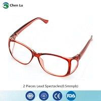 2 peças gama ray e x ray óculos de proteção exposição médica radiação frente e lado proteção 0.5mmpb chumbo óculos|protective glasses -