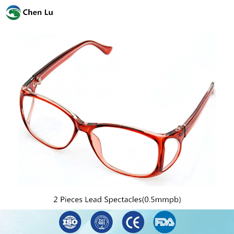 2 Pieces Gamma Ray And X-ray Protective Glasses Medical Exposure Radiation Front And Side Protection 0.5mmpb Lead Spectacles