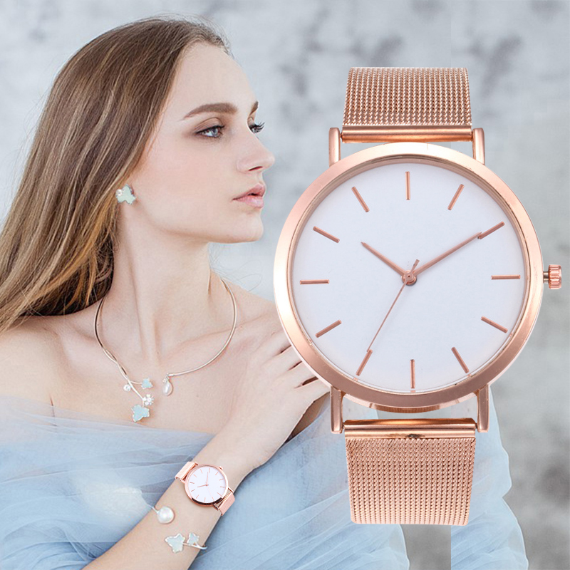 2019 New Women Watches Bayan Kol Fashion Rose Gold Silver Luxury Ladies Quartz Watch Women Reloj Mujer Saati Relogio Wristwatch