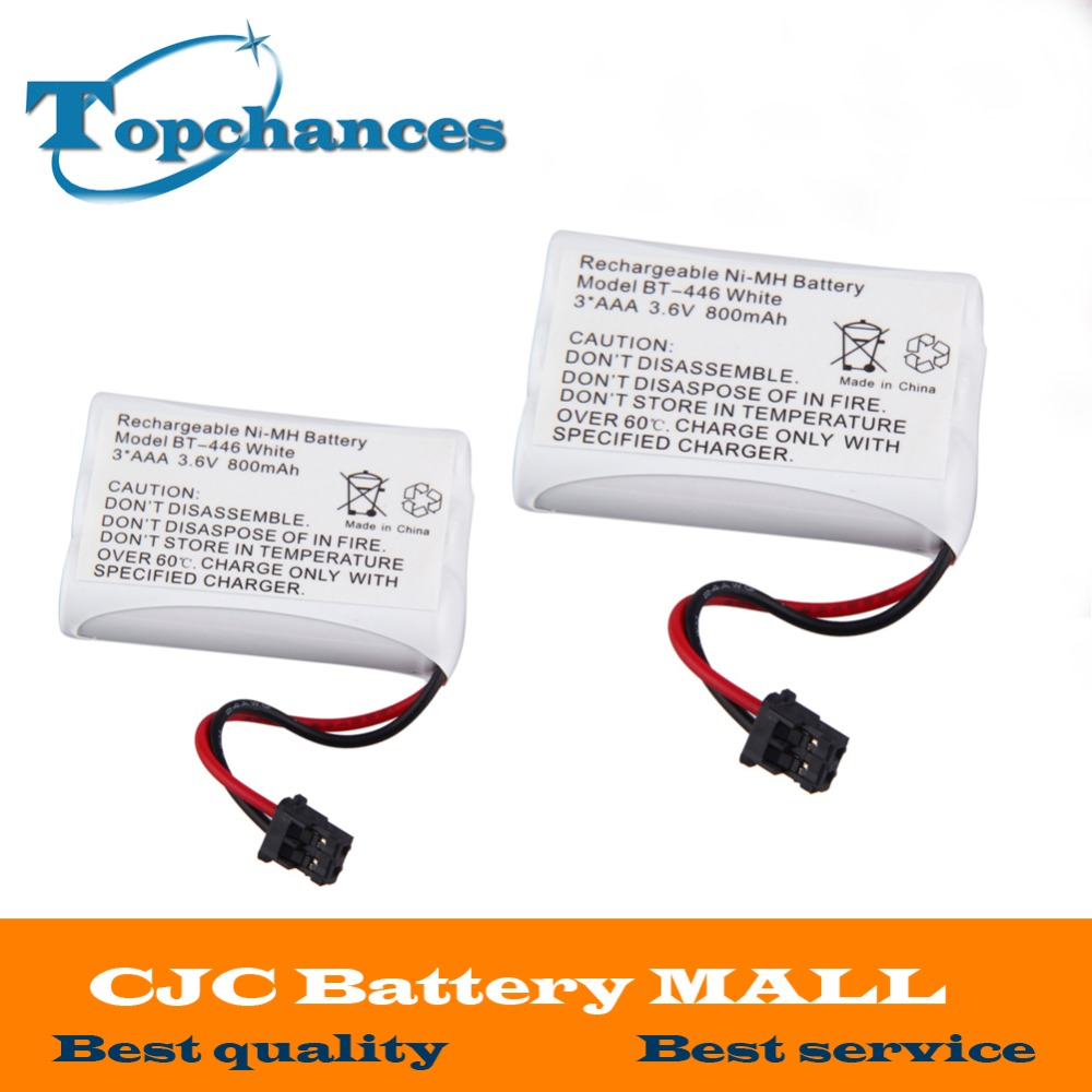 High Quality 2x Cordless Home Phone Battery for Uniden BT-446 BP-446 BT446 BP446 BT-1005 free shipping