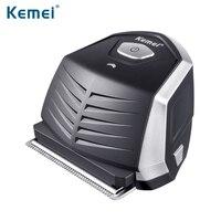 Kemei Sharp Carbon Steel Blade Hair Clipper Li ion Battery Lasting Power Rechargeable Hair Trimmer Waterproof (100 240V) d50