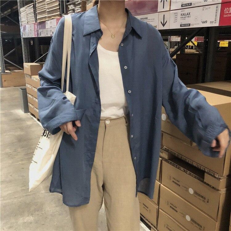 2018 Summer New Women Vintage Loose Slimming Versatile Shirt Skilful Manufacture Blouses & Shirts