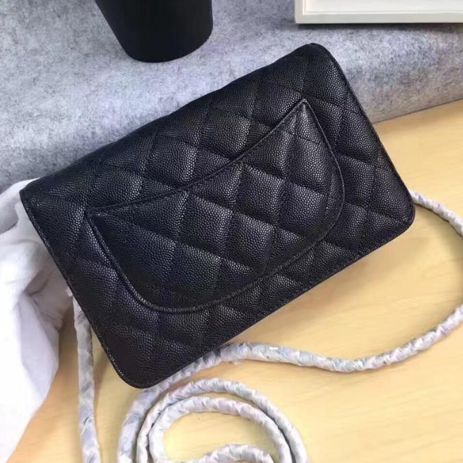Woc Plain Caviar Chain Bag Women Designer Bags Famous Brand Top Quality Real Leather Small Bag Classic Crossbody Handbags