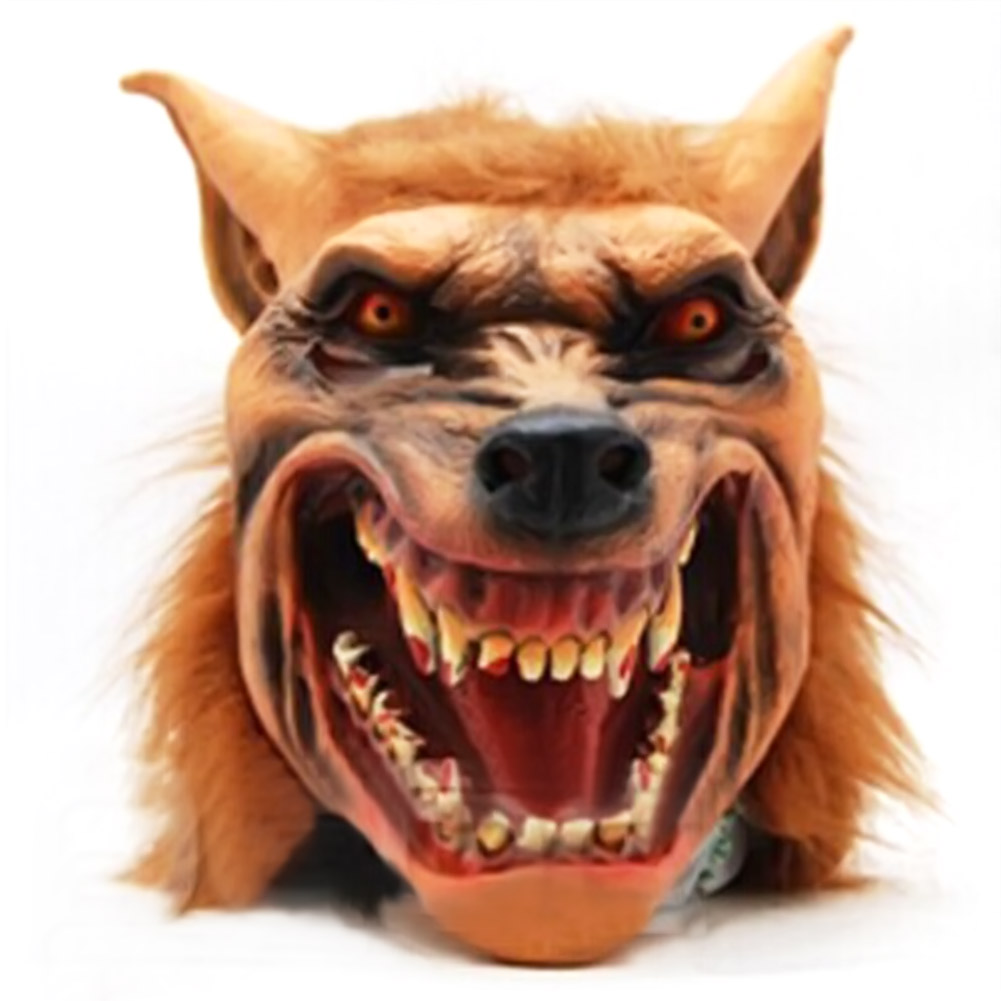 Online Shop Horrible Adult Halloween Mask Full Head Halloween Wolf ...