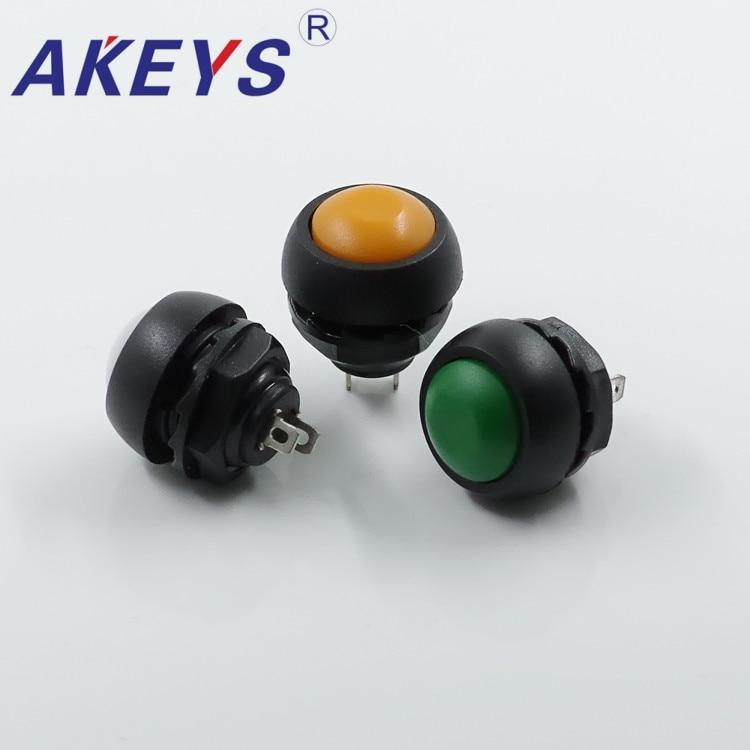 Купить с кэшбэком 5PCS PS-33B 18mm Waterproof Push Button Mini Round switch for game machine
