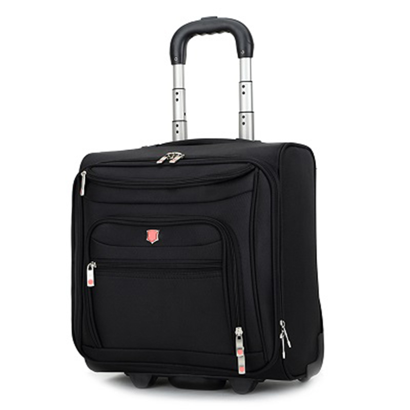 LeTrend High grade Rolling Luggage Men Business Oxford Suitcase Wheels 18 inch Carry on Trolley Travel