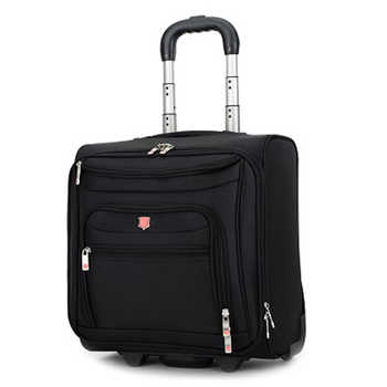 LeTrend High grade Rolling Luggage Men Business Oxford Suitcase Wheels 18 inch Carry on Trolley Travel Bags laptop bag - DISCOUNT ITEM  35% OFF All Category