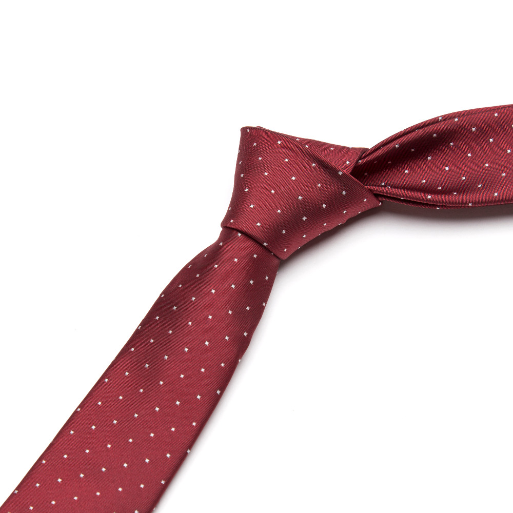 Mannen stropdas set bowtie das rode wijn dot mode klassieke slanke - Kledingaccessoires - Foto 4