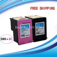 H818XL Remanufactured Ink Cartridges CC641ZZ CC644ZZ For High Capacity Use In Deskjet 4288 D2568 3 Sets