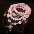 Korean Fashion Natural Stone Bracelet Bring Good Luck Handmade Crystal Beads with Calabash Pendant Lovely Bracelet