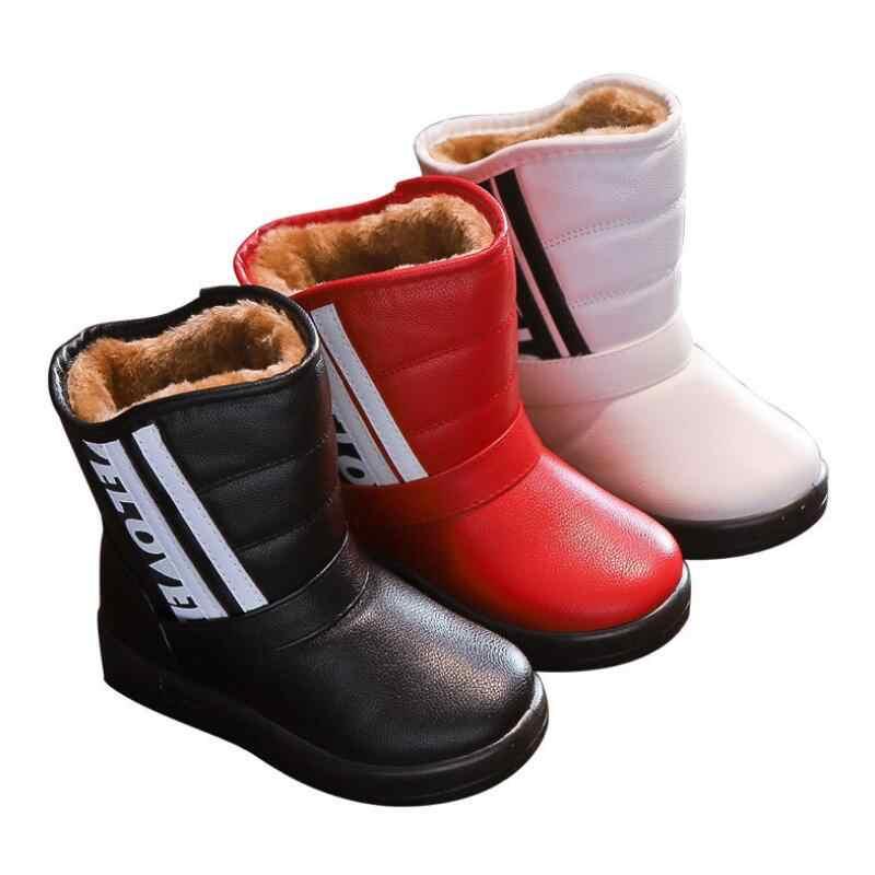 Сапоги для девочек детские зимние сапоги 2018 зимние модели Новые мужские теплые бархатные туфли из хлопка повседневные Детские non-ботинки без застежки дерево wrass