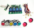 JY-21 with button START 4 digits coin operated timer board for 1-4 devices machines, time control pcb with all wires