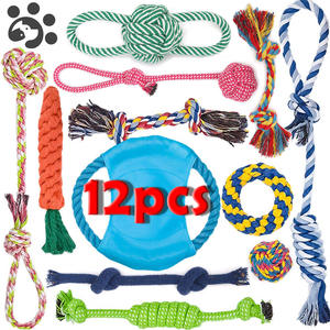 Dog-Rope-Toy Ball-Chew-Toys Interactive-Toy Dogs Teeth-Cleaning Small Large for TY0116