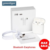 Greentiger Bluetooth Earphones i10 tws wireless Air pods Earbuds sport Wifi headset stereo Touch Control Headset for smart Phone