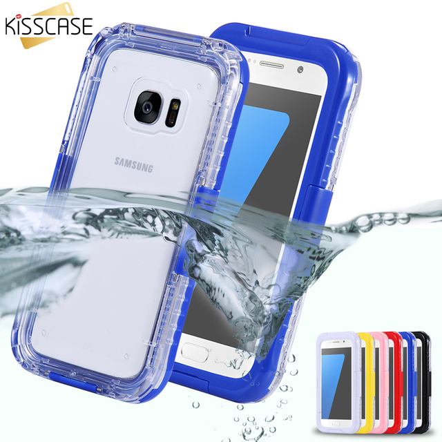 sports shoes 8d723 5e02b US $8.34 32% OFF|KISSCASE For Samsung Galaxy S7 S7 Edge Waterproof Case For  Samsung S8 S8 Plus Underwater Cover Universal Hard PC+ TPU Clear Case-in ...