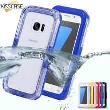 Kisscase для Samsung Galaxy S7 S7 Edge Водонепроницаемый Подводные 6 м водонепроницаемый чехол Универсальный Жесткий PC + ТПУ Прозрачная Чехлы Капа
