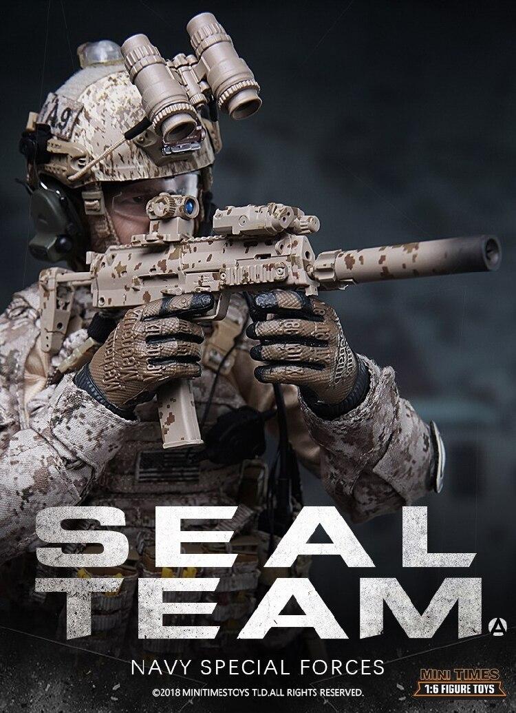1:6 United States Navy SEALs MK17 rifle sealteam Soldier