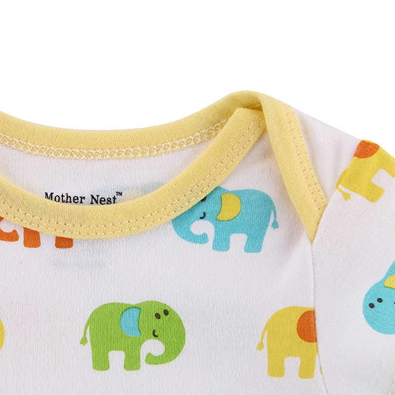 母の巣3ピース/ロットファンタジアベビーボディスーツ幼児ジャンプスーツ全体半袖ボディスーツ赤ちゃん服セット夏綿