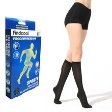 FINDCOOL Medical Compression Stockings Closed Toe Thin Knee High for Summer 15-20mmHg Anti-avricose Veins