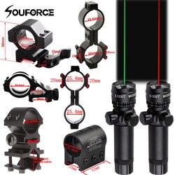 Vermelho/verde laser vista interruptor remoto terno 25.4/30mm anel 20mm trilho qd montagem + com interruptor remoto para a caça