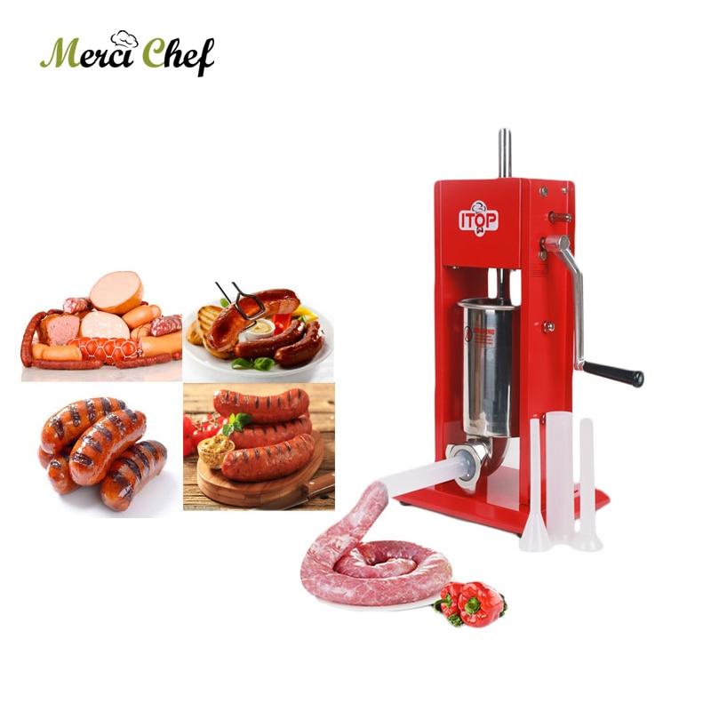 Food Machine 3L Sausage Maker Manual Sausage Stuffer Machine Making Filling Vertical Sausage Filler Meat Processor