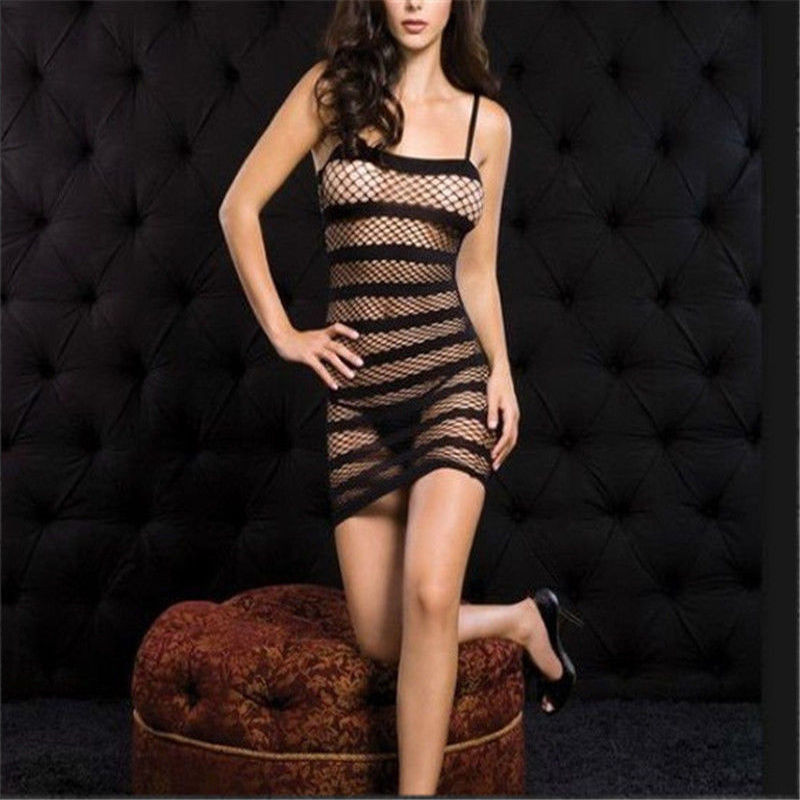 Female Erotic Porn <font><b>Sexy</b></font> Costumes <font><b>Lingerie</b></font> Net nightie Nightdress Nightwear Crotch Dress Body Stocking women <font><b>intimates</b></font> image