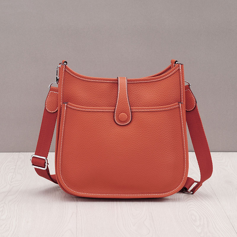 2017 Genuine Leather Women Bucket Messenger Bag Cow Real Leather Shoulder Bags for Ladies Handbag Bolsa Feminina Small Purse genuine leather handbag 2018 new shengdilu brand intellectual beauty women shoulder messenger bag bolsa feminina free shipping