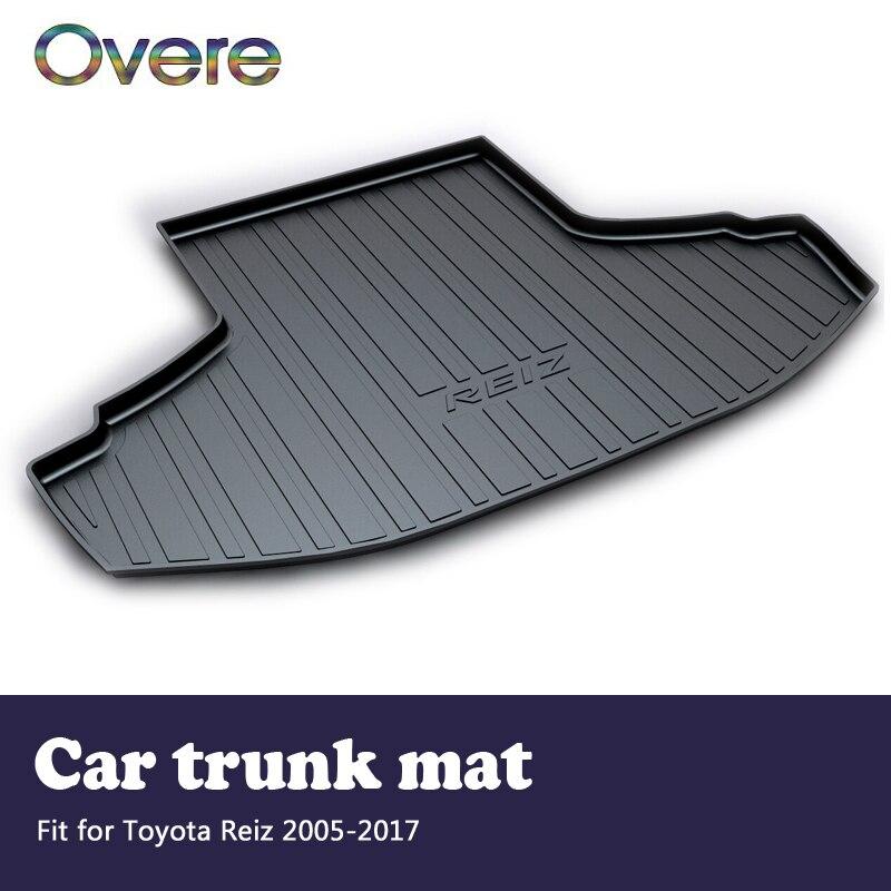 Overe 1Set Car Cargo trunk mat For Toyota Reiz 2005 2006 2008 2009 2010 2011 2012 2013 2014 2015 2016 2017 Anti-slip Accessories цена