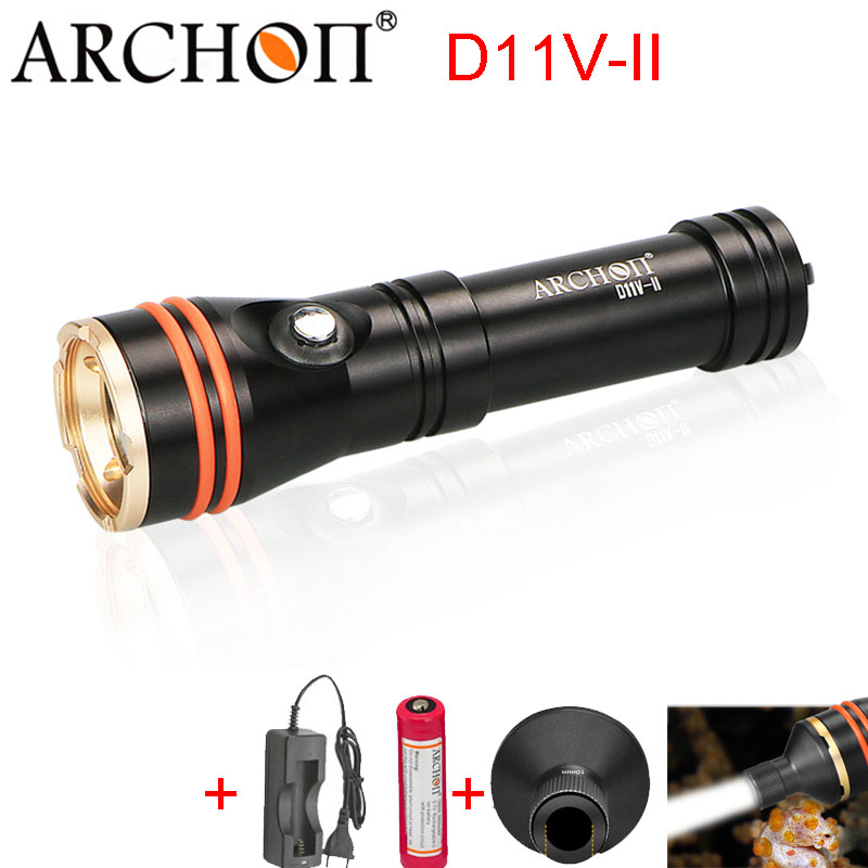 Sea Diving Flashlight ARCHON D11V II D11V Photography Diving Light Video Light 100M Underwater Snorkeling Torch