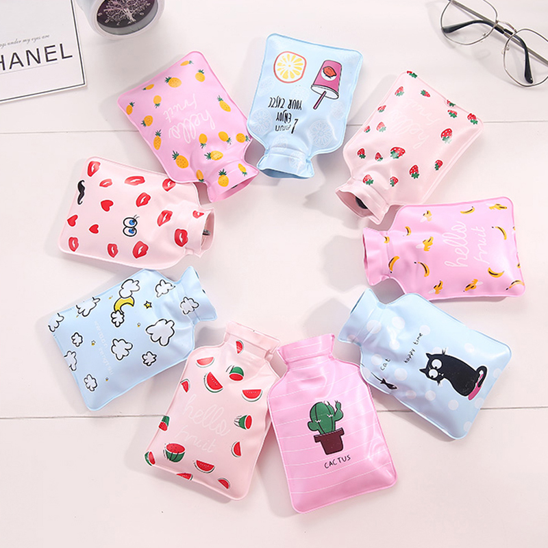 050 Mini Cute Hot Water Bag Bottle Container Handy Pearl Finished Fabrics Water filled Type Warm Hand Treasure 10 5 15 5cm in Hot Water Bottles from Home Appliances