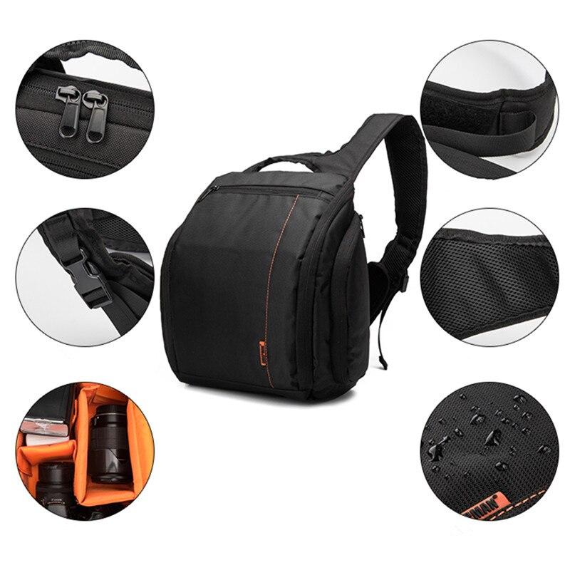 Profesional de un solo hombro Cámara foto bolsa impermeable fotografía lente mochila Multi-funcional Digital cámara DSLR SLR caso