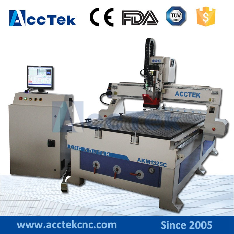 High Speed AccTek Cnc Router 1325 1530 Atc Wood Cnc Router AKM1325C