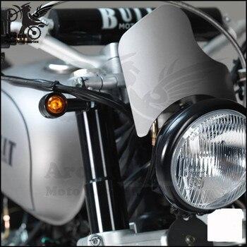 En Kaliteli Retro Amber Aydınlatma Siyah Moto Gösterge Yanıp Sönen Için Harley Softail Sportster Vintage Moto Rcycle Dönüş Sinyal ışığı