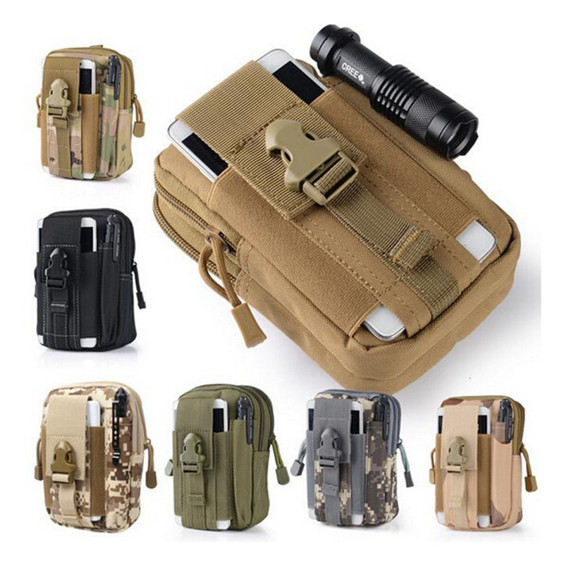 1000D Outdoor Military Tactical Molle Waist Belt Bag Fanny Pack Mobile Phone Case EDC Molle Tool