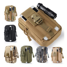 CS Force Waist Bag Waterproof Waist Pack Molle Military Waist Fanny Pack Mobile Phone Case for 5.5inch Note 4 1000D Hunting Bags