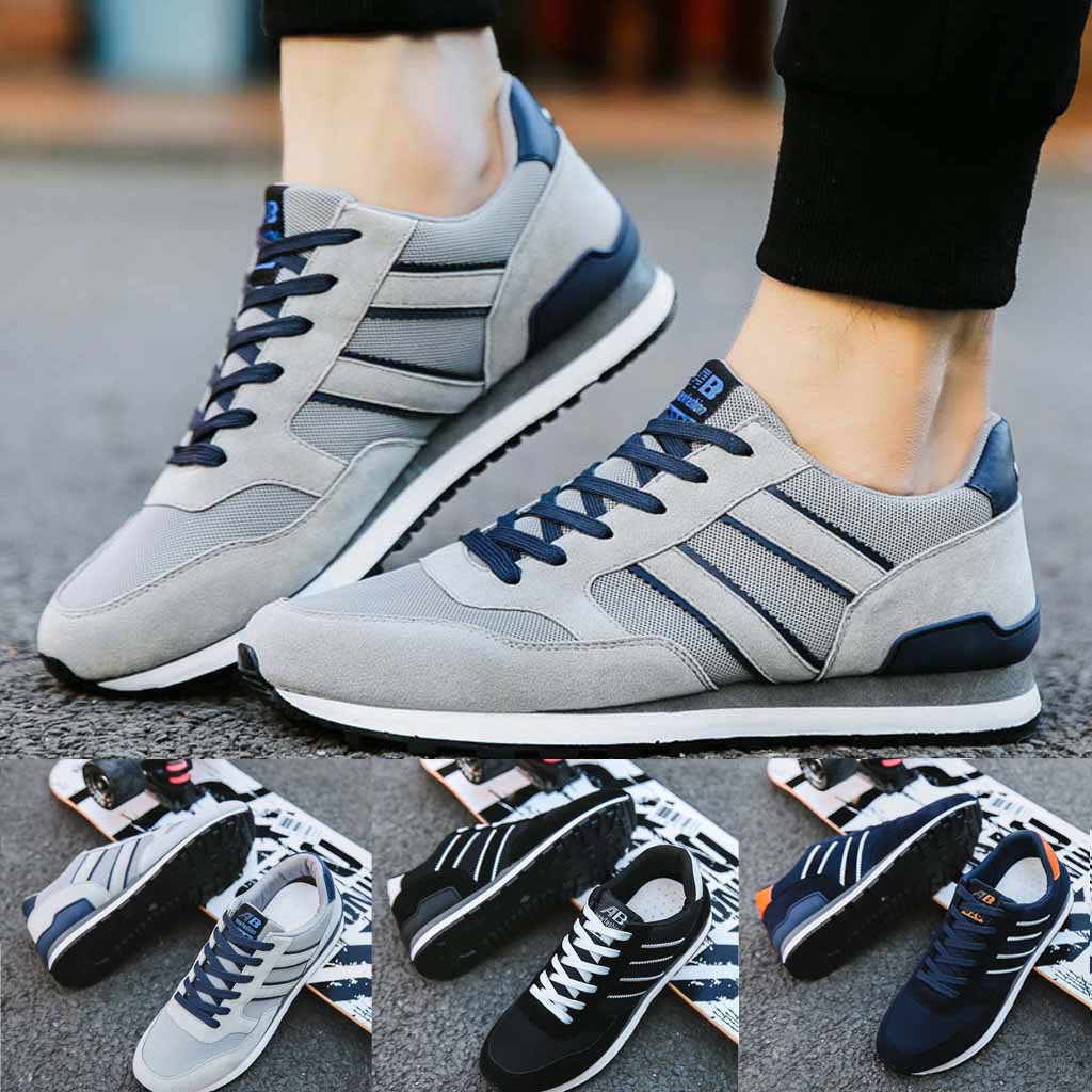 Fashion Men Sneakers Casual Shoes Breathable Lace Up Shoes Student Running Shoes High quality breathable comfortable new 627